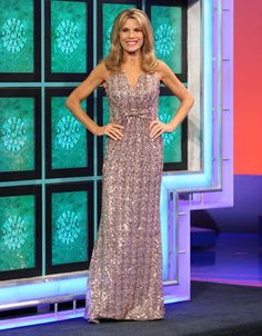 """CACHE: Pink fully sequined gown w/v-neckline, sleeveless, midriff w/""""twisted"""" CF, triangular keyhole cutout back, flared hemline w/train 