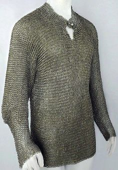 European riveted mail hauberk, Germany, mid 15th century. Low-carbon steel, quench hardened after assembly.
