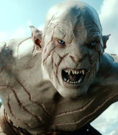Manu Bennett as Azog, king of the Orcs- I saw this guy at Comic Con! He looks super normal. :)