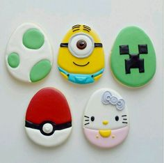 Easter character cookies