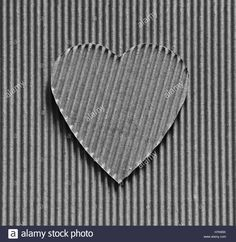 Download this stock image: Valentine - heart symbol carved out of corrugated cardboard. Copy space. Free space for text, Close-up, top view - H7K85K from Alamy's library of millions of high resolution stock photos, illustrations and vectors.