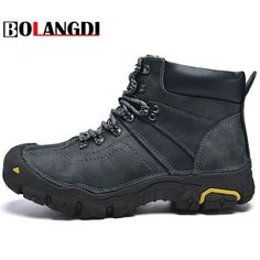 9d28447310d Sport Center  Discount Up to Bolangdi Winter Plush Warm Genuine Leather  Outdoor Sport Tactical Men Hiking Shoes Waterproof Sneaker Climbing  Trekking Boots
