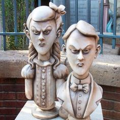 The Twins of the Haunted Mansion at the Magic Kingdom at Walt Disney World