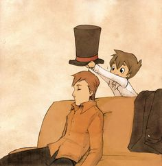 Professor Layton Funny | Five O'Clock Fan Art: Professor Layton and the Missing Top Hat