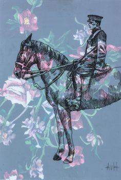 Buy original art by rising South African artist Adele van Heerden. Horseman, small framed ink drawing size 9 x 14 x 4 cm. South African Artists, Online Art Gallery, Adele, Art For Sale, Original Art, Van, Drawings, Sketches, Drawing