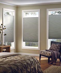 Light grey cellular blinds