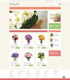 Flower Store OpenCart Template #49087