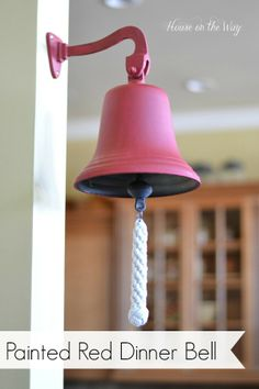 Painted Red Dinner Bell