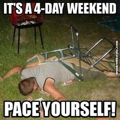 New years weekend is coming.…pace yourself LOL