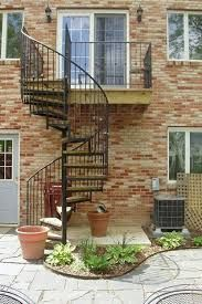 Image result for external stairs and terrace from first floor on terraced house