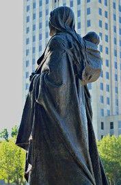 North Dakota, Sakakawea statue at the Capitol in Bismarck.