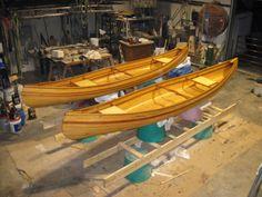 Strip Canoes: Western Red Cedar, Spanish Cedar, Old-Growth Pine, & fiberglass and epoxy. Donated to St. Joseph School bazaar