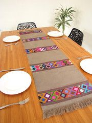 Table Runner | Handwoven | Geometric Mexican Folk Art | Chiapas Bazaar | Handmade Mexican Blouses, Accessories & Home Decor from Rural Artisans