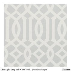 Chic Light Grey and White Trellis Lattice Pattern