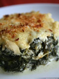 SOUR CREAMED SPINACH GRATIN