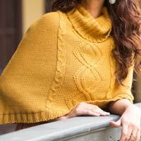 100% alpaca poncho, 'Puno Ochre'. Shop from #UNICEFMarket and help save the lives of children around the world.