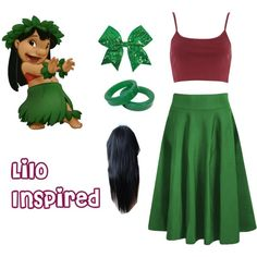 Lilo (lilo and stitch) #1 by jjjunebug2 on Polyvore featuring polyvore, fashion, style, River Island and Chassè