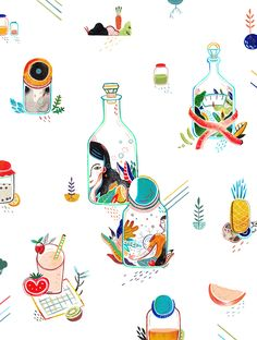 """Aditya Pratama - cover and main story illustration for flavours magazine """"fermented drink issue"""" - https://www.behance.net/gallery/28228219/Flavours-Malaysia-Magazine"""
