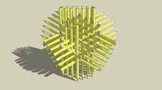 Large preview of 3D Model of 72 Pencils - George Hart