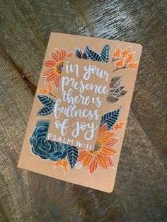 Hand-Painted Floral Traveler's Journal - Cynosure Semi- Custom Theme by DeftDuckie on Etsy Cute Canvas Paintings, Diy Canvas Art, Canvas Painting Quotes, Paintings With Quotes, Dorm Paintings, Flower Painting Canvas, Canvas Quotes, Hand Painted Canvas, Face Paintings