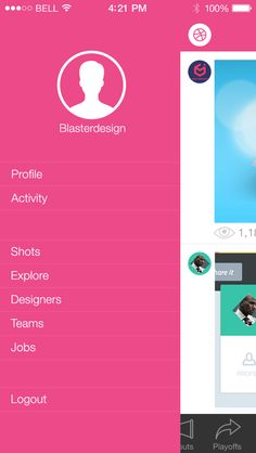Dribbble App iOS7 by Mesnil Théo, via Behance