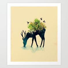 Watering (A Life Into Itself) by Budi Satria Kwan as a high quality Art Print. Free Worldwide Shipping available at Society6.com from 11/26/14 thru 12/14/14. Just one of millions of products available.