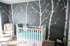 chambre bebe bleue et grise