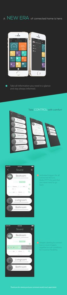 IOS Home Automation by Junbin Guo, via Behance