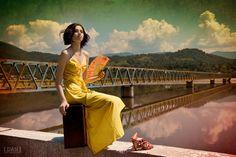 The Long Journey Home...III by Aisii.deviantart.com  #bridge #suitecase