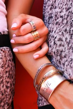 ***HOT SELLER*** Alisa Michelle Signature Cuffs and Rings with Inspirational Sayings and Gentle Reminders