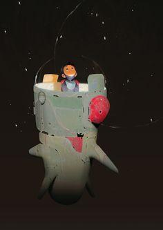 Space kiddo Art Print by Alexandre Diboine | Society6