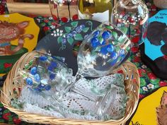 Hand painted glass ware...