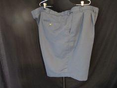 Roundtree & Yorke Men's EAsy CAre Golf Dress Shorts, Pleated,Steel Blue,SZ 50 #RoundtreeYorke #CasualShorts