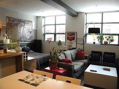 by Yuyu & Gigi Design Residential Interior Design, Open Concept, Corner Desk, Living Spaces, Loft, Modern, Furniture, Home Decor, Homemade Home Decor