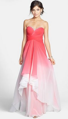 Ombré Coral Chiffon Dress. I don't think I will EVER stop being obsessed with ombre.