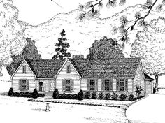 Ranch House Plan with 1765 Square Feet and 4 Bedrooms(s) from Dream Home Source | House Plan Code DHSW25797
