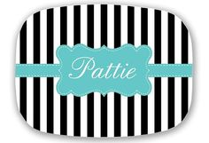 Personalized Melamine Plate Personalized Plate by ChicMonogram, $37.00