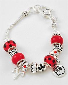 Pandora Style Zodiac Aries Charm Bracelet...$25.95