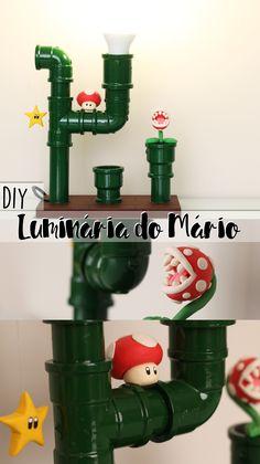 DIY | Faça você mesmo uma luminária do Mário! ♥