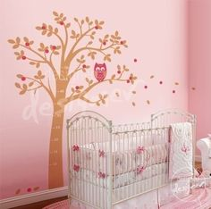 Wall Decal Wall Sticker Nursery decal-  Owl on Tree wall decal - dd1020. $68.00, via Etsy.