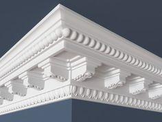Roof Design, Ceiling Design, House Design, Ceiling Ideas, Fan Decoration, Pooja Rooms, Interior Trim, Classical Architecture, Crown Molding