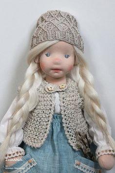 Felt Dolls, Doll Toys, Baby Dolls, Pretty Dolls, Beautiful Dolls, Doll Clothes Patterns, Doll Patterns, Fashion Dolls, Sock Animals