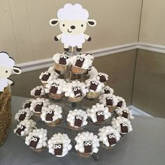 Lamb Baby Shower Decorations - Lamb Centerpieces - Sheep Baby Shower - Lamb Party - Lamb Decorations - Set of 5 Lamb Centerpiece Stakes, Baby Shower Cakes, Baby Shower Themes, Baby Boy Shower, Baby Shower Gifts, Shower Ideas, Farm Birthday, Birthday Parties, Aid Adha, Homemade Centerpieces
