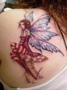 Fairy Tattoo On Back