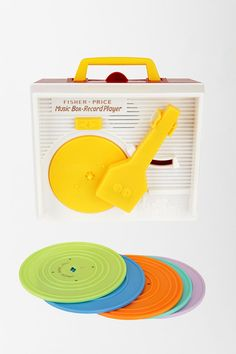 Fisher Price Record Player, a childhood favorite. (and gift for a new baby niece coming soon)