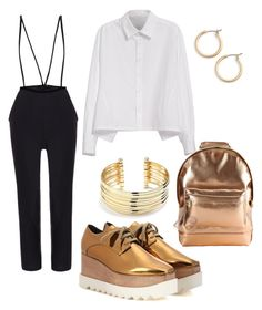 Gold for school by kmts1k on Polyvore featuring polyvore, fashion, style, Y's by Yohji Yamamoto, STELLA McCARTNEY, Mi-Pac, Belk Silverworks, Nordstrom and clothing