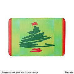 Christmas Tree Bath Mat #Christmas #Tree #Holiday #Winter #Fashion #Home #Decor  #Bathroom #BathMat #Mat #Bath
