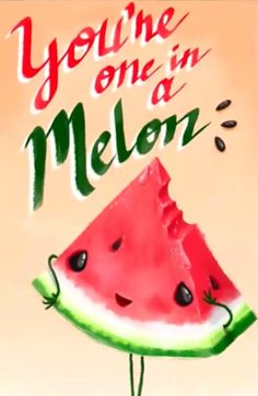 57 Ideas For Fruit Aesthetic Melon Funny Food Puns, Food Jokes, Punny Puns, Cute Puns, Funny Cute, Food Humor, Pun Card, One In A Melon, Cute Messages