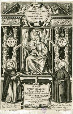 LA VIRGEN de Montserrat con Santo Tomás de Aquino y San Ignacio de Loyola