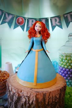 Wow, what a Merida birthday cake from Brave! See more party ideas at CatchMyParty.com #birthdaycake #movie
